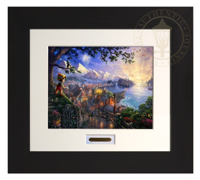 Pinocchio Wishes Upon A Star – Modern Home Collection (Espresso Frame)