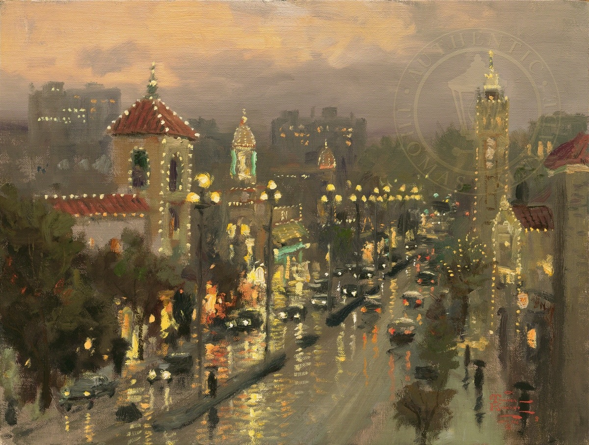 Plaza Lights, Kansas City – Limited Edition Art | The Thomas Kinkade ...