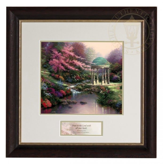 Pools of Serenity  – Inspirational Print (Dresden Black/Silver Frame Frame)
