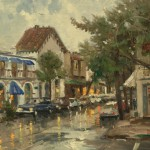 Rainy Day in Carmel – Limited Edition Canvas