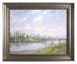 Riverbank, The – Impressions (Academie Silver Frame)