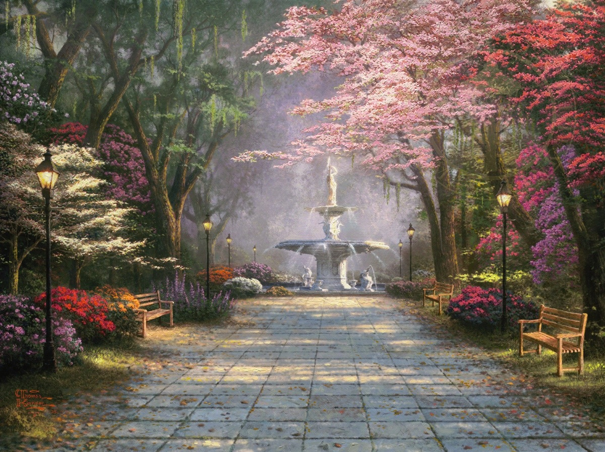 Home Is Where The Heart Is Painting By Thomas Kinkade