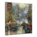 San Francisco, A View Down California Street from Nob Hill – 14″ x 14″ Gallery Wrapped Canvas
