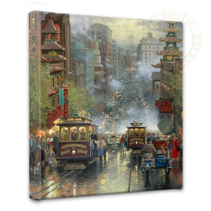 "San Francisco, California Street – 14"" x 14"" Gallery Wrapped Canvas"