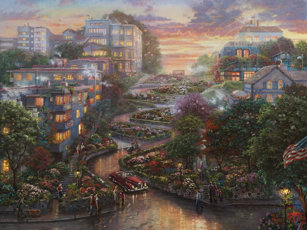 San Francisco Lombard Street Ii The Thomas Kinkade Company