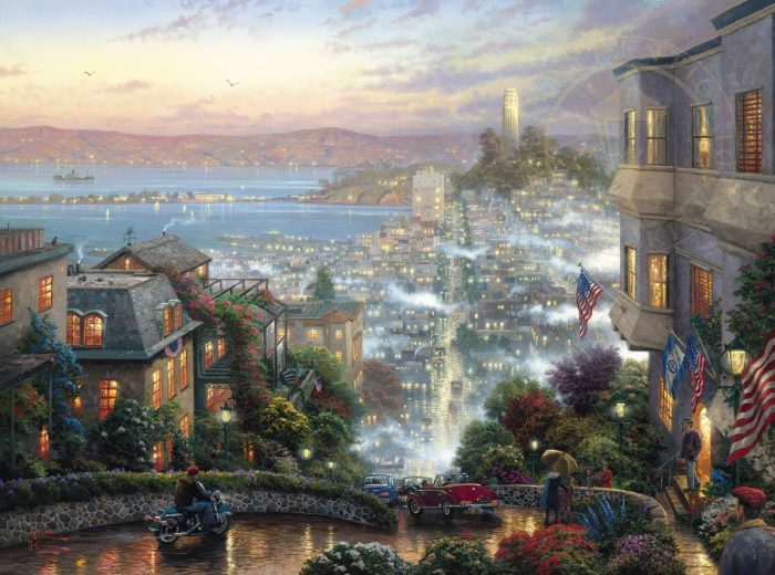 San Francisco, Lombard Street – Limited Edition Art