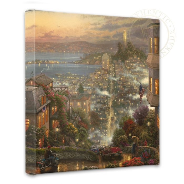 San Francisco, Lombard Street – 14″ x 14″ Gallery Wrapped Canvas