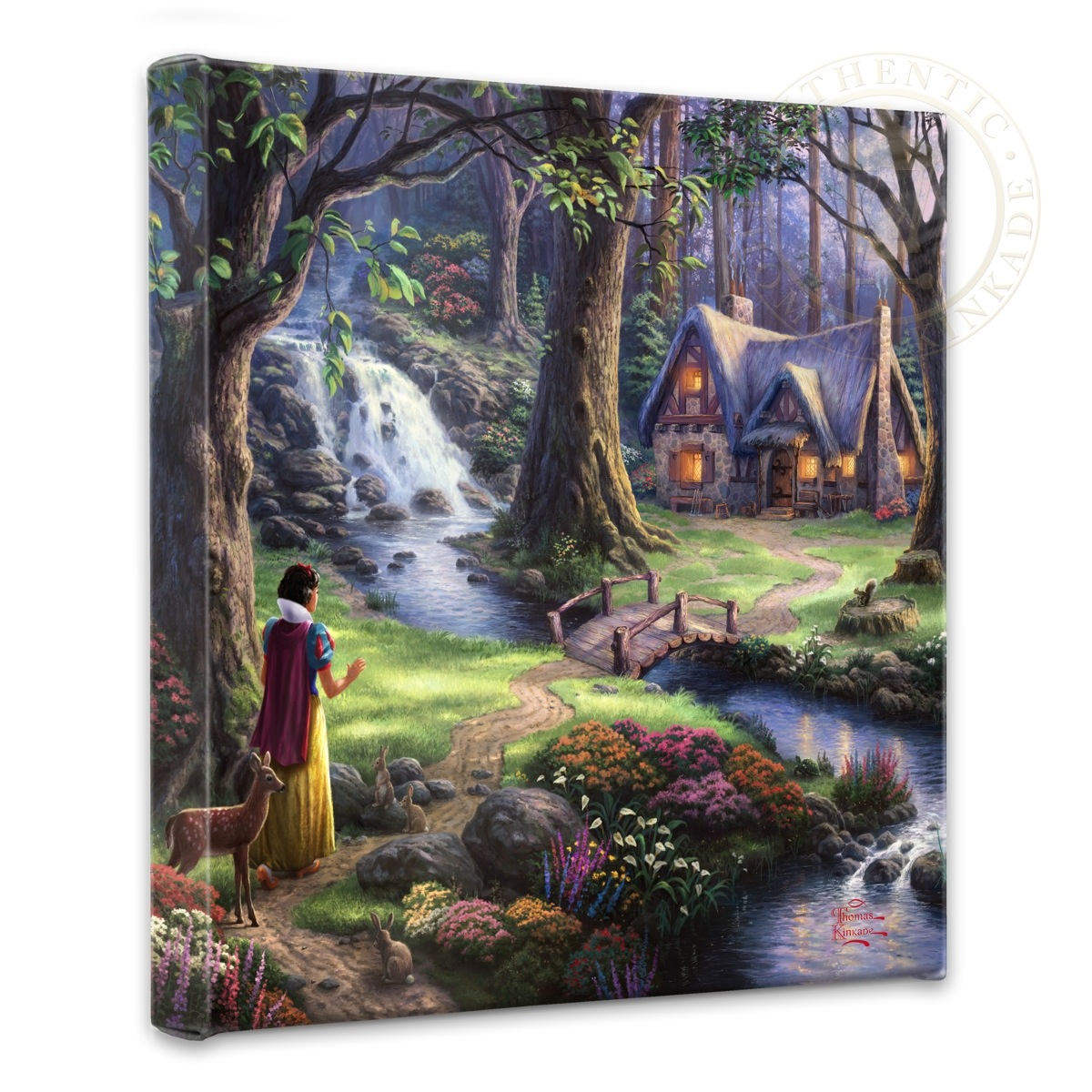 Snow White Discovers The Cottage 14 X 14 Gallery