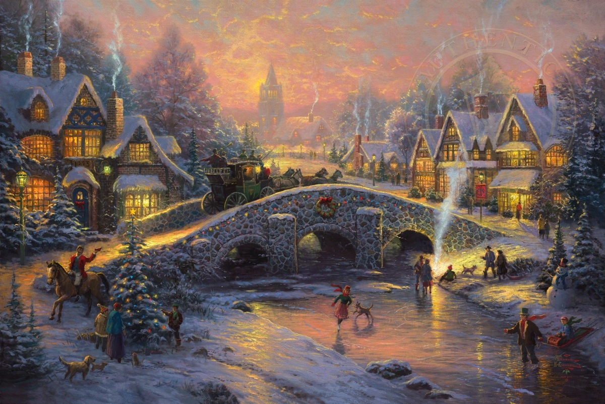 spirit of christmas limited edition art the thomas kinkade company