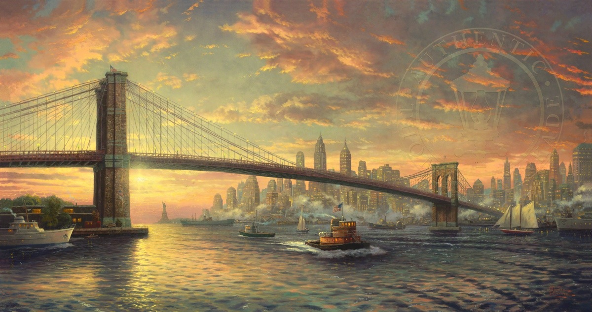 Spirit of new york the limited edition art the thomas kinkade company for Peinture moderne
