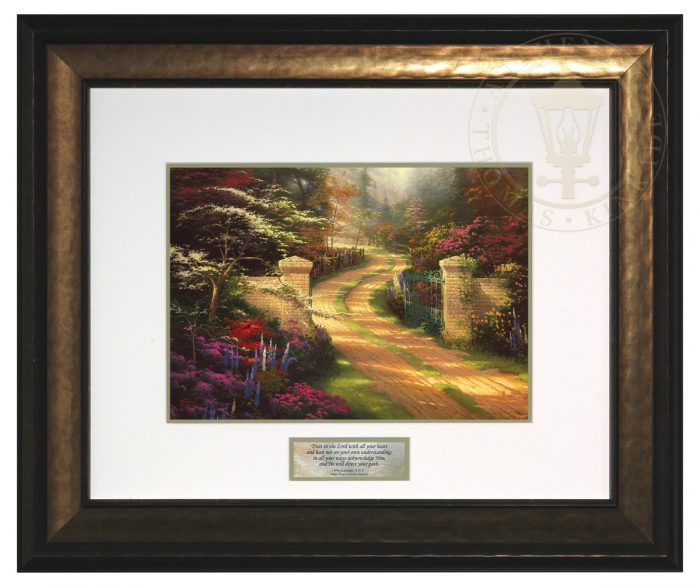 Spring Gate – Inspirational Print (Canaletto Gold Frame)