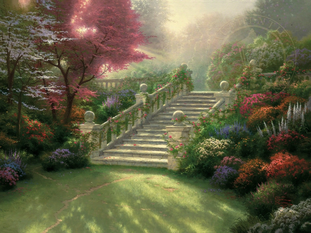 Stairway To Paradise Limited Edition Art The Thomas Kinkade Company