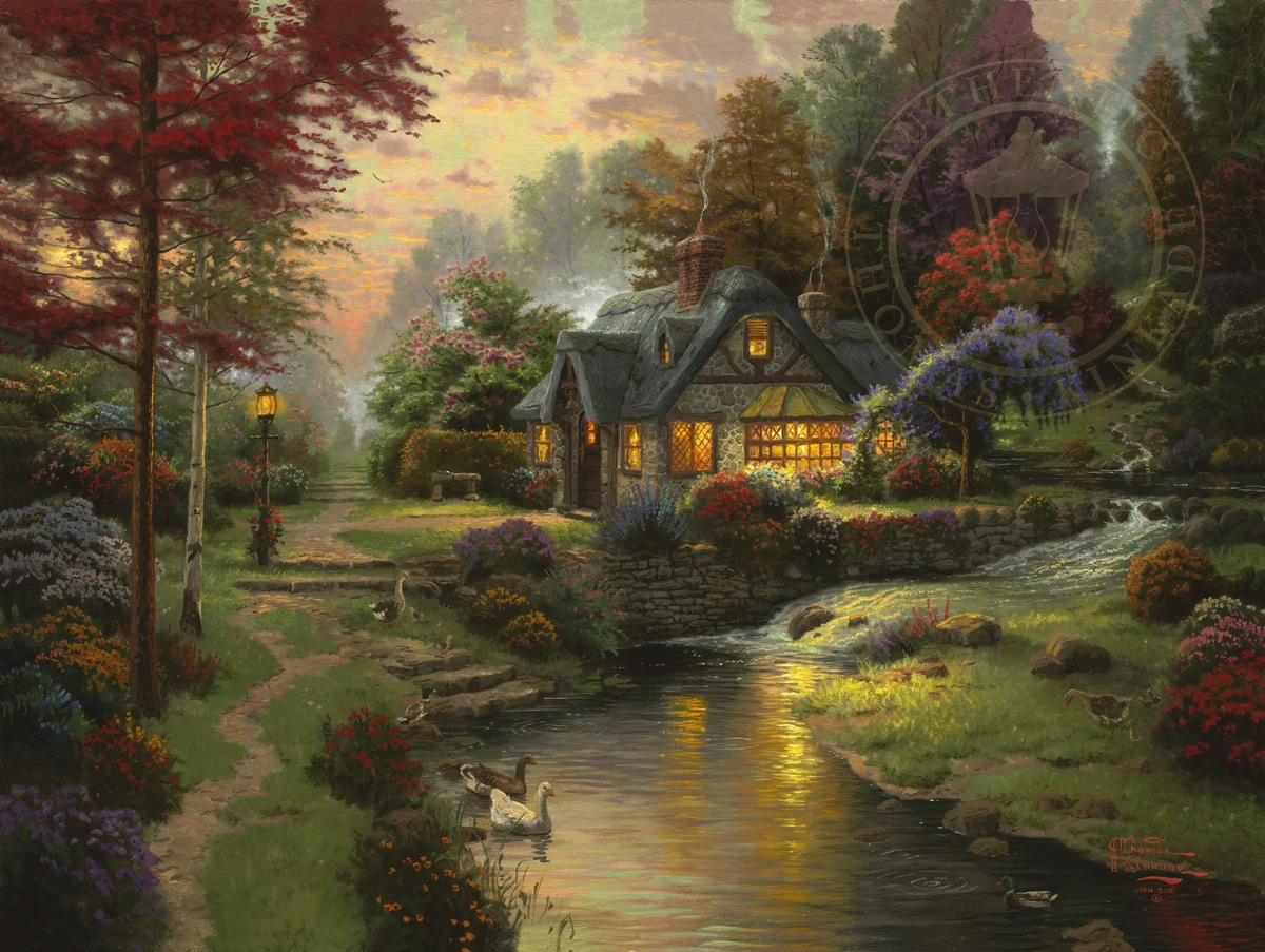 Thomas kinkade cottage house plans for One of a kind house plans