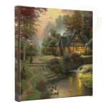 "Stillwater Cottage – 14"" x 14"" Gallery Wrapped Canvas"