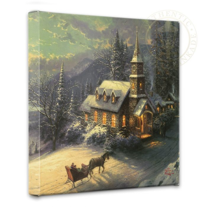 Sunday Evening Sleigh Ride – 14″ x 14″ Gallery Wrapped Canvas