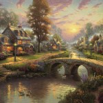 Sunset on Lamplight Lane – Limited Edition Canvas