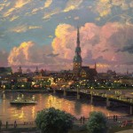 Sunset over Riga – Limited Edition Canvas