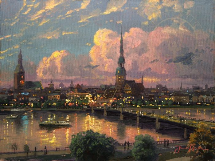Sunset over Riga – Limited Edition Art