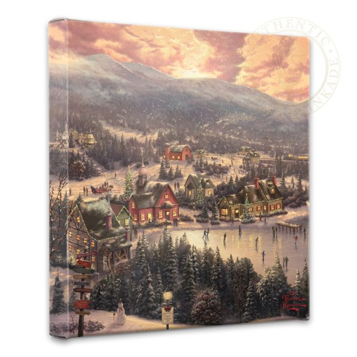 "Sunset on Snowflake Lake – 14"" x 14"" Gallery Wrapped Canvas"