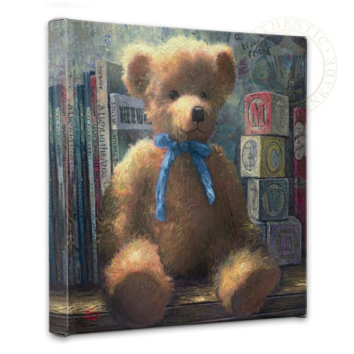 "Trusted Friend, A, Blue Bell – 14"" x 14"" Gallery Wrapped Canvas"