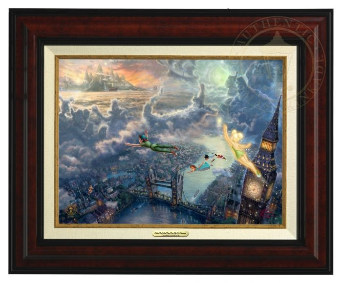 Tinker Bell and Peter Pan Fly to Neverland – Canvas Classic