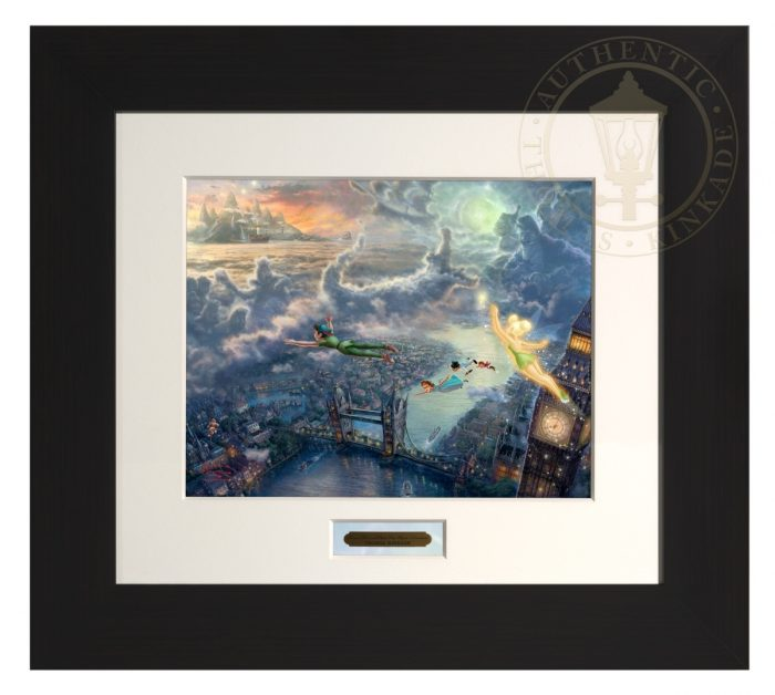 Tinker Bell and Peter Pan Fly to Neverland – Modern Home Collection (Espresso Frame)