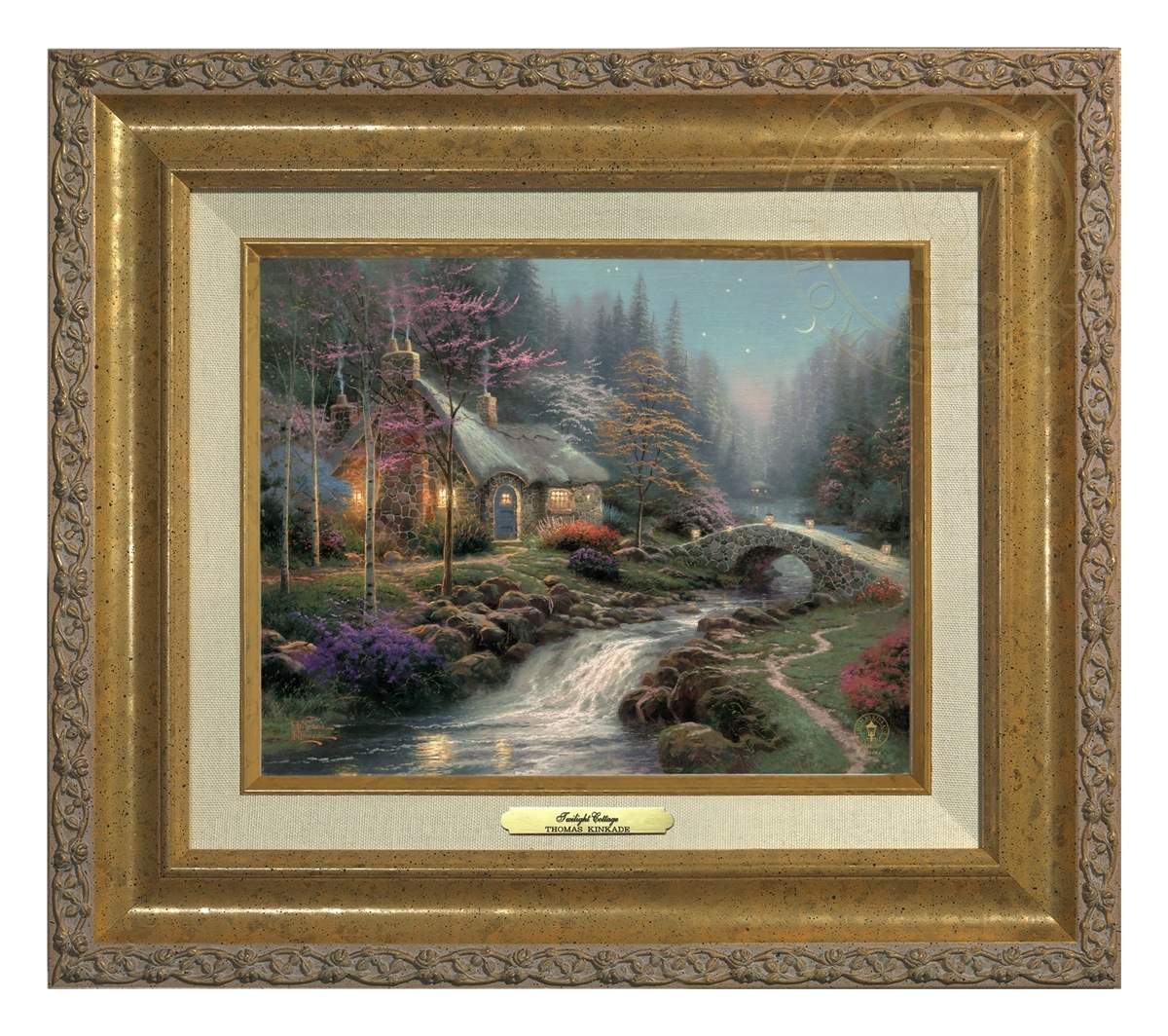 Pleasing Twilight Cottage Canvas Classics Thomas Kinkade Studios Home Interior And Landscaping Ologienasavecom