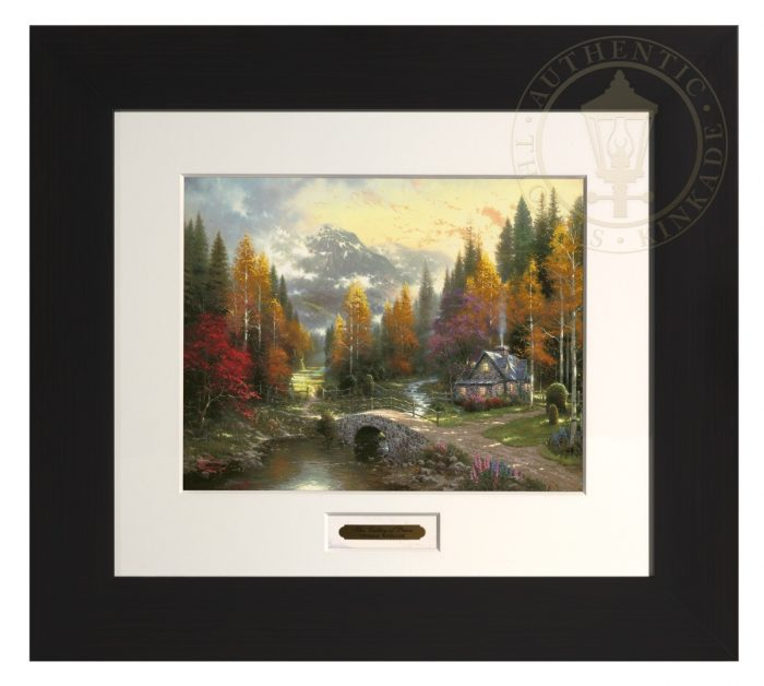 Valley of Peace, The – Modern Home Collection (Espresso Frame)