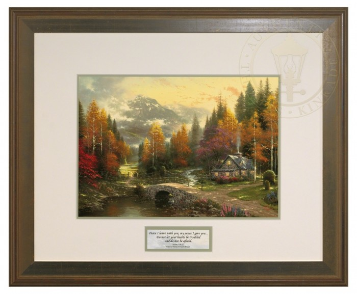 The Valley of Peace – Inspirational Print (Hudson Frame)