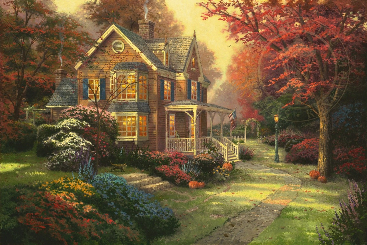 Victorian Autumn – Limited Edition Art | The Thomas Kinkade Company