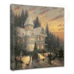 "Victorian Christmas – 14"" x 14"" Gallery Wrapped Canvas"