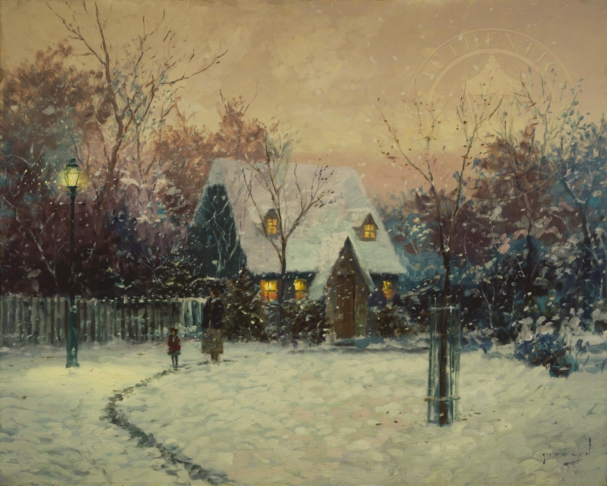 Winters Cottage A Limited Edition Art