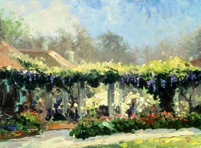 Wisteria Arbor – Limited Edition Canvas