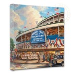<em>Wrigley Field</em>™: Memories and Dreams</em> – 14&#8243; x 14&#8243; Gallery Wrapped Canvas