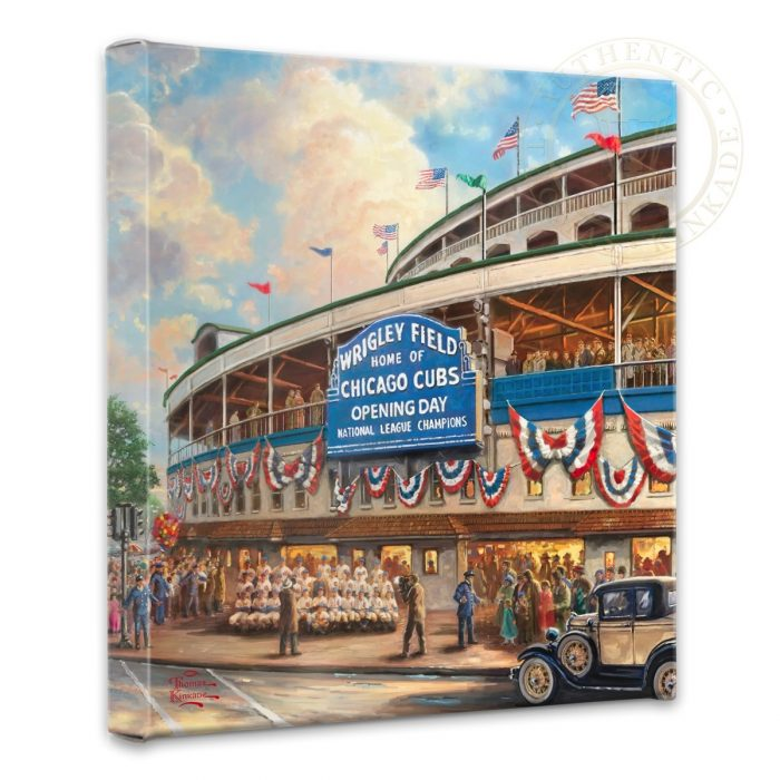 <em>Wrigley Field</em>™: Memories and Dreams</em> – 14″ x 14″ Gallery Wrapped Canvas