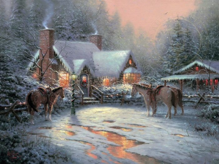 Christmas Welcome, A – Limited Edition Canvas