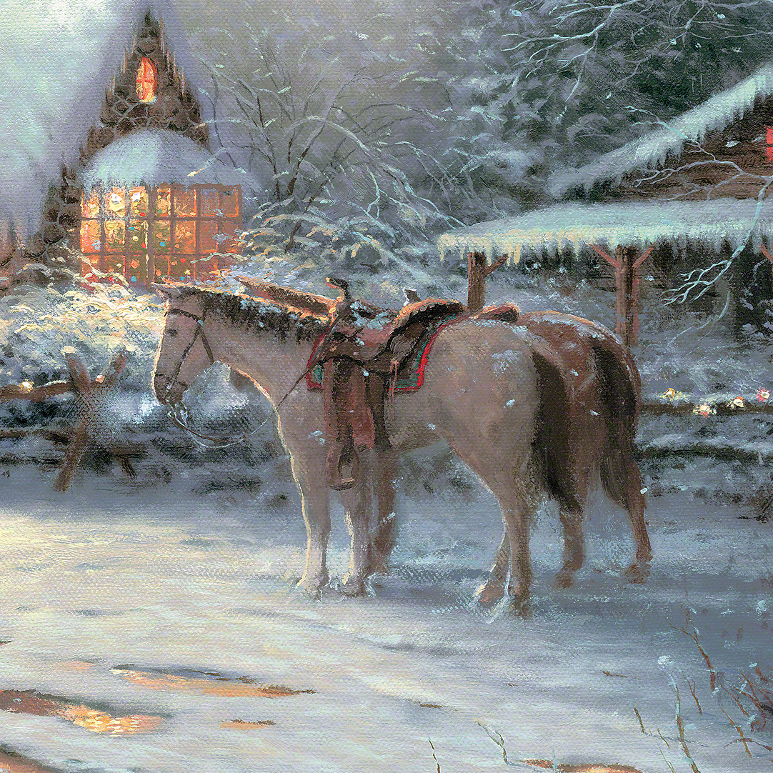 Christmas Welcome A Limited Edition Canvas Thomas