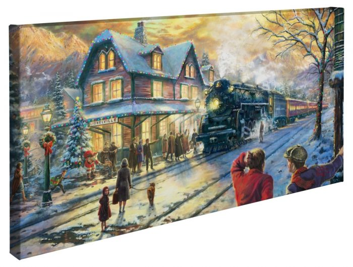 All Aboard for Christmas – 16″ x 31″ Gallery Wrapped Canvas