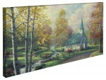 Aspen Chapel, The – 16″ x 31″ Gallery Wrapped Canvas