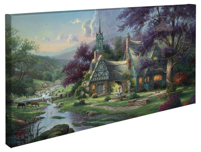 Clocktower Cottage – 16″ x 31″ Gallery Wrapped Canvas