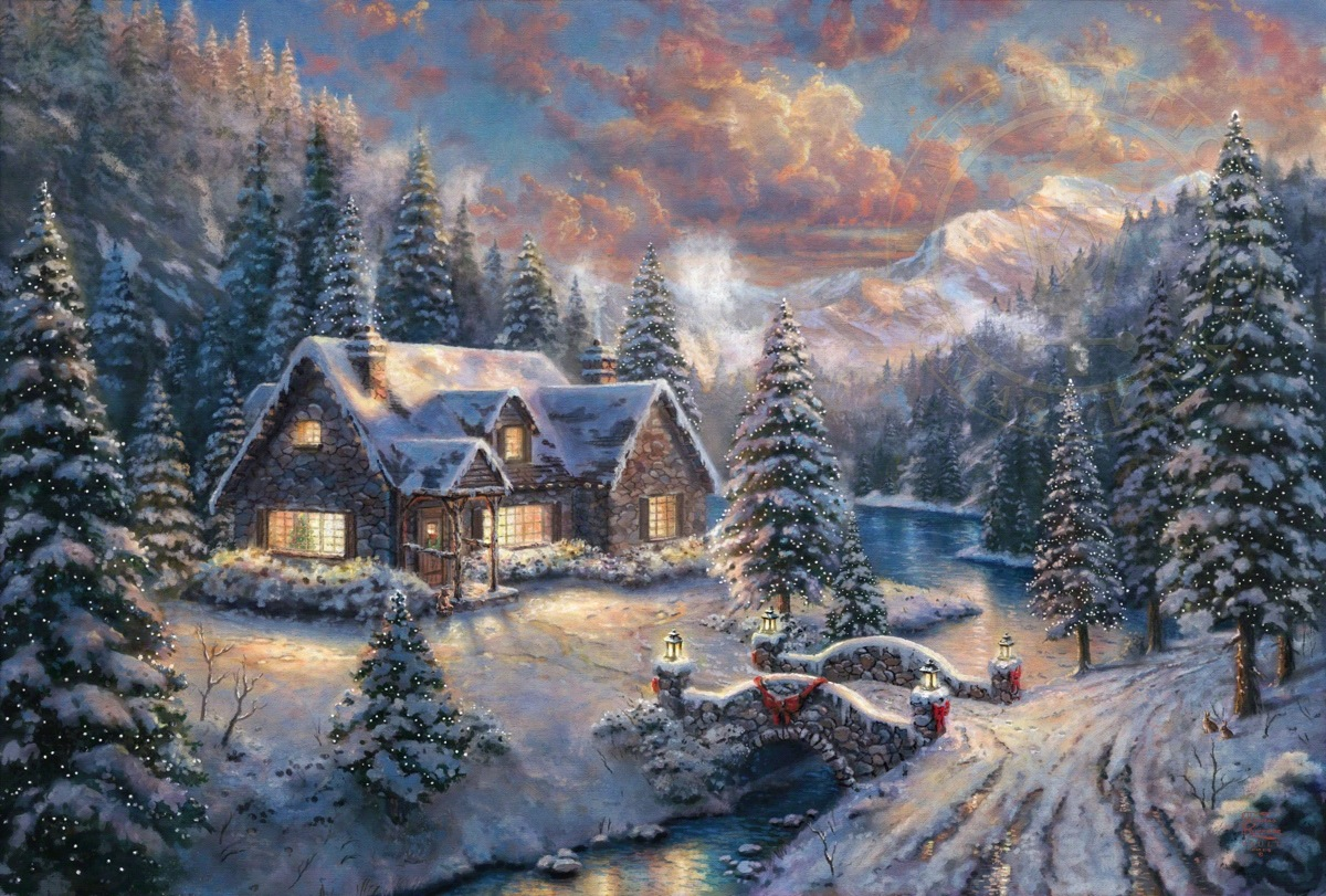 high country christmas limited edition art the thomas kinkade company