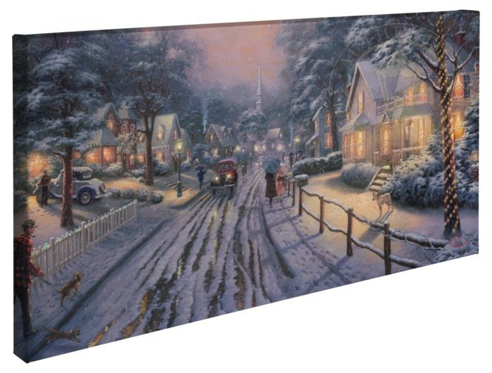 Hometown Christmas Memories – 16″ x 31″ Gallery Wrapped Canvas