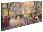 Victorian Christmas Carol, A – 16″ x 31″ Gallery Wrapped Canvas