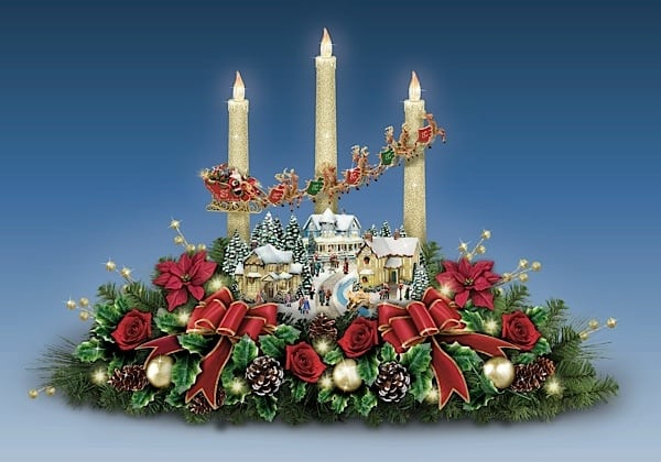 Bradford Floral Candlelight Centerpiece
