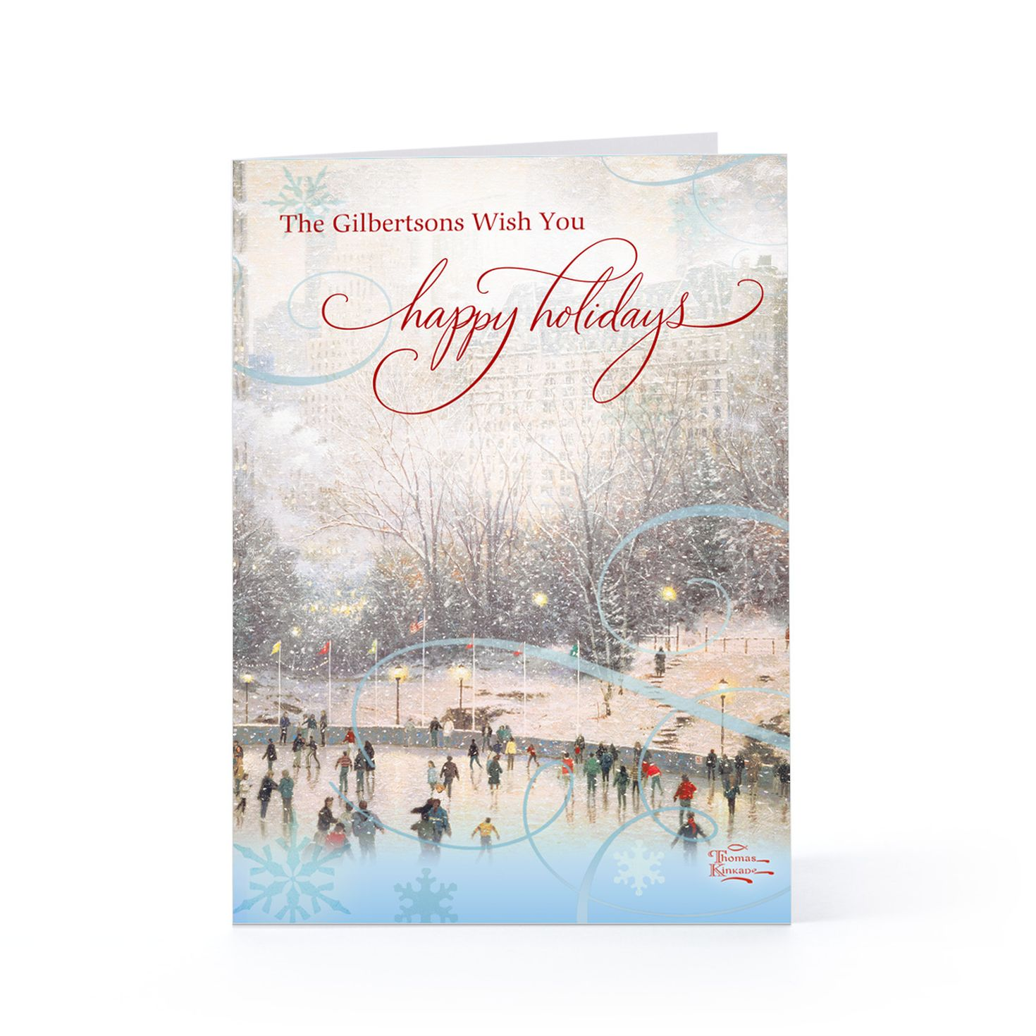 Hallmark Thomas Kinkade Holiday Personalized Cards | The Thomas ...