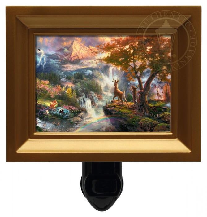 Bambi's First Year – Nightlight (Gold Frame)