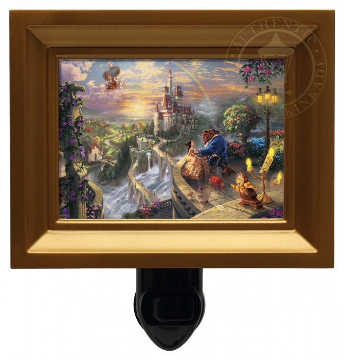 Beauty and the Beast Falling in Love – Nightlight (Gold Frame)