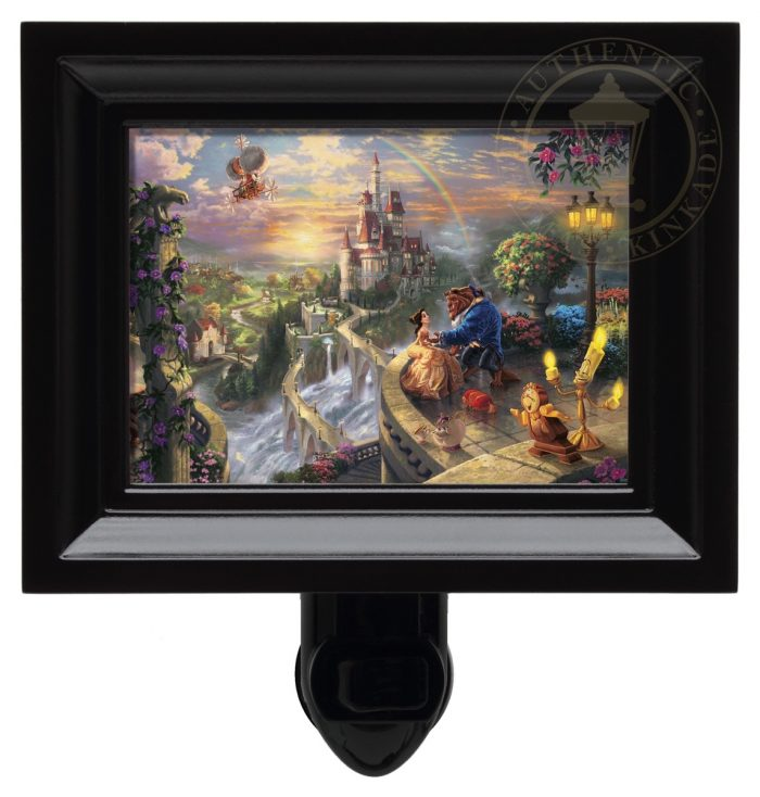 Beauty and the Beast Falling in Love – Nightlight (Black Frame)