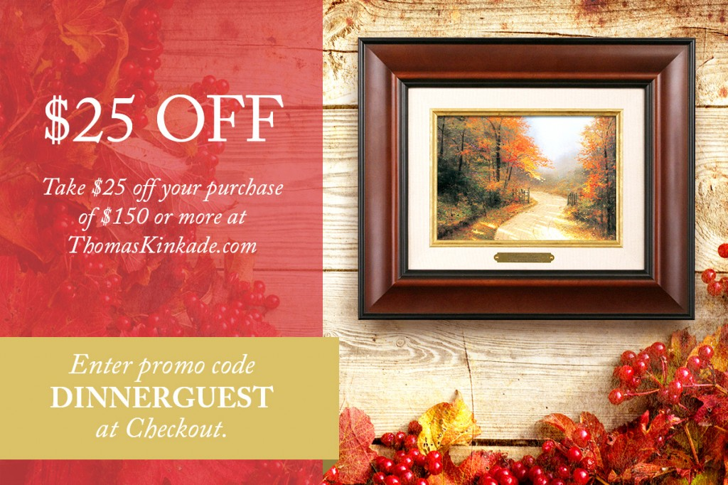 Thomas Kinkade $25 Off Coupon