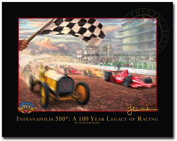 A Century of Racing! The 100th Anniversary Indianapolis 500 Mile® Race – 8.5″ x 11″ Archival Studio Print